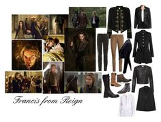 """""""Francis from Reign"""" by littleapplecat ❤ liked on Polyvore featuring Yves Saint Laurent, True Religion, Balmain, Nanette Lepore, Alexander McQueen, Somerset by Alice Temperley, Shoto, Frye, Durango and Tom Ford"""