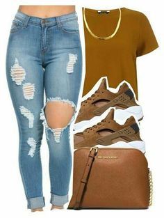 A fashion look from February 2016 featuring NIKE shoes and MICHAEL Michael Kors shoulder bags. Browse and shop related looks. Fashion Killa, Look Fashion, Urban Fashion, Teen Fashion, Fashion Outfits, Womens Fashion, Dope Outfits, Swag Outfits, Fall Outfits