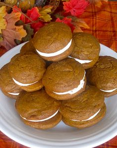 I love pumpkin and I love whoopie pies - but this recipe may be a bit involved for my beginner baking skills