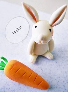 I've just finished making gum paste and am totally exhausted!!   However, I happened to make this little bunny today so had to post th...