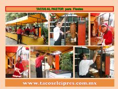 Llevamos los Mejores tacoa al pastor a Fiestas www.tacoselcipres.com.mx