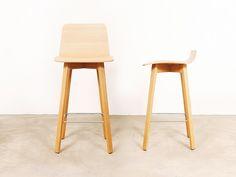 Taburete alto de bar de madera MAVERICK | Taburete de madera multiestrato Colección Maverick by KFF | diseño Birgit Hoffmann