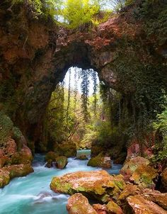 Breathtaking Places Around the World: Theogefiro (God's bridge), Zitsa, Greece. I belong in Greece. Dream Vacations, Vacation Spots, Places To Travel, Places To See, Hidden Places, Places Around The World, Around The Worlds, Beautiful World, Beautiful Places