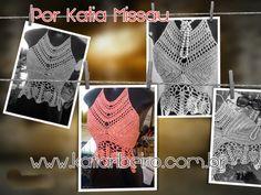 Katia Ribeiro Moda & Decoração Handmade: Top Cropped  Valentina por Katia Missau