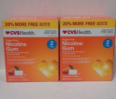 Gum and Lozenges: 2 Pack Cvs Nicotine Gum 2Mg Coated Fruit Wave 120 Pieces Ea. Exp 6 17 -> BUY IT NOW ONLY: $35.4 on eBay!