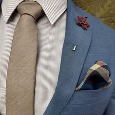 Pairs Well With Whiskey And Suits. The Solid Brown Tie Set. All Gentleman Sets Guaranteed to Make Your Dapper Days Easy. Grey Blue Suit, Grey Tie, Brown Tie, Brown Suits, Blue Suit Wedding, Wedding Suits, Dapper Day, Modern Gentleman, Tie Set