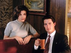 """""""That's a damn fine cup of coffee""""--Special Agent Dale Cooper (with Audrey Horne) #twinpeaks"""