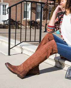 6740f500198 Upgrade that classic fall look with these Steerage knee high boots