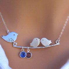 Etsy.com  Mama and babies :) sweet necklace
