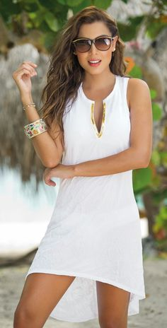 Fashion trends in 2019 resort outfits beach dresses, fashion Beach Dresses, Casual Dresses, Short Dresses, Summer Dresses, Sexy White Dress, Little White Dresses, White Fashion, Boho Fashion, Luxury Fashion