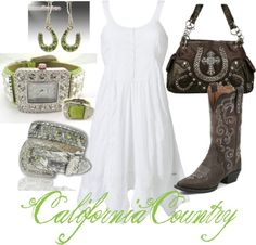 """Green and Brown"" by californiacountry on Polyvore"