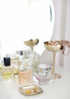 vanity perfume display