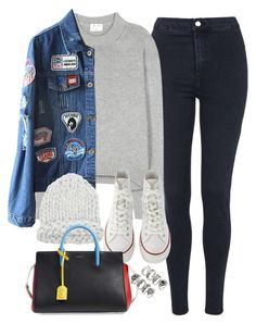 """Untitled #1599"" by camila-echi ❤ liked on Polyvore featuring Topshop, Acne Studios, Converse, Yves Saint Laurent and Forever 21"