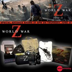 Repin to win a prize pack from WORLD WAR Z! Then click the pic and enter at our site!