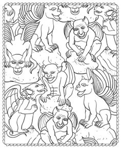HalloweenScapes Coloring Book, Dover Publications