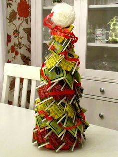 Teepussi kuusi Diy Christmas Gifts, Christmas Baking, Holiday Gifts, Xmas, Holiday Decor, 4th Of July Wreath, Projects To Try, Wreaths, Gift Ideas