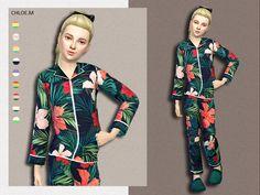 Lana CC Finds - Pajama By ChloeMMM