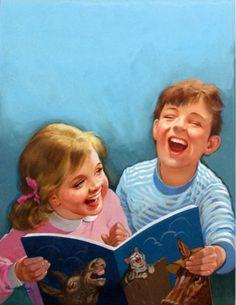 O Lobo Leitor: Crianças felizes com livros