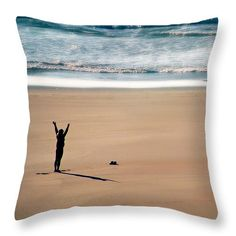 Harmony  Throw Pillow by Micki Findlay - TheSingingPhotographer.com - various sizes, home decor, cushion, oregon, coast, beach decor,