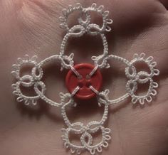 Tatting it Up: Earrings and Button Snowflake Pattern