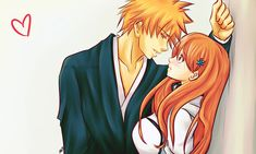 Bleach// Ichigo and Orihime Bleach Fanart, Bleach Manga, Ichigo E Orihime, Best Anime Couples, Bleach Couples, Popular Manga, Ppg And Rrb, Fairy Tail Couples, Manga Couple