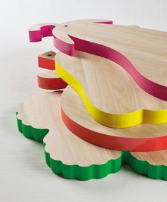add a pop of colour to your kitchen with these chopping boards by Alessandra Baldereschi for Seletti. Available at Heal's