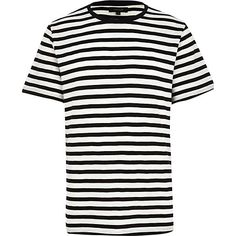 Mens Black And White Striped T Shirts