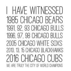 #chicago #myhometown #champions