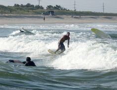 Surfing at Indian River Inlet, DE