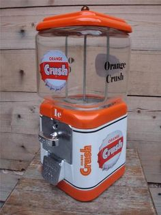 Vintage 1940's Acorn Orange Crush Gumball Candy Machine Soda Sign Coin Op RARE | eBay