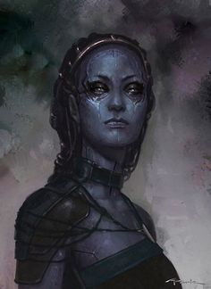 "Concept art for Nebula from ""Guardians of the Galaxy"" (2014)."
