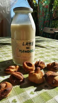 Home made bio almond milk and almonds biscuits  Appena fatto in casa il latte di mandorle e con le mandorle rimaste biscotti di pasta di mandorle  #lattedimandorla #almondmilk