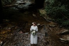 Blue Ridge Parkway Waterfall Elopement | Asheville Wedding Photographer — Asheville Wedding and Elopement Photographer Blue Ridge Parkway, Blue Ridge Mountains, Local Art Galleries, Vow Book, Mountain Elopement, Special Person, Asheville, Hair Piece, Her Hair