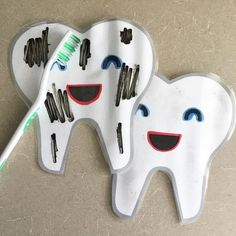 Brush brush brush those teeth! Another super fun activity found on Pinterest #iteach #weteach #iteachsped #weteachsped…