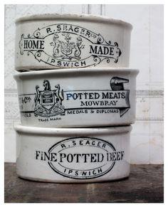 Vintage English Pots <3<3