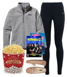 """""""{having a pitch perfect night}"""" by preppy-southern-girl-1-2-3 ❤ liked on Polyvore featuring NIKE, Patagonia, UGG Australia and West Bend"""