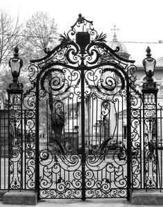 Visit the post for more. Metal Gates, Wrought Iron Gates, Fence Gate Design, Door Design, Grades, Iron Work, Entrance Gates, Bucharest, Bordeaux