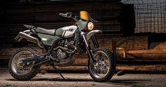 KTM 640 Supermoto scrambler by car designer Krzysztof Szews Ktm Motorcycles, Motocross Bikes, Scrambler Motorcycle, Custom Motorcycles, Custom Bikes, Ktm Supermoto, Supermoto Racing, Ktm Adventure, Twin Girls