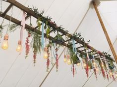 There are so many ways to put your own stamp on your blank canvas of a marquee. this is just one gorgeous idea! Marquee Decoration, Decorations, Marquee Wedding Inspiration, Flower Installation, Bell Tent, Sailing Outfit, Plant Hanger, Wind Chimes, Shades