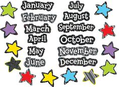 BW Months of the Year (CTP1138) #classroom #decor #AILtyler