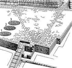 The West Court at the palace at Knossos, with Kouloures 1–3 on the left (Evans 1930, fig. 34) http://www.ajaonline.org/article/1823