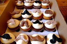 Movember Cupcakes for fundraiser. #growyourstashboys