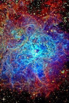 Tarantula Nebula, también conocido como 30 Doradus NGC 2070, una gran región celestial que es más de 170.000 ly distancia.