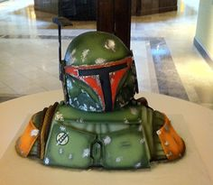 Awesome Boba Fett from Star Wars nerd cake design