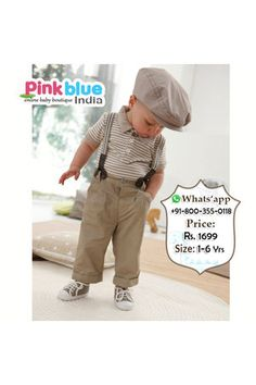 e8a9c64e3 Discover this look wearing Rompers - Formal Dress Two Piece for Baby Boy by  pinkblueindia styled for Formal, Birthday