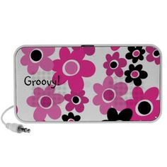 1960s MOD Flower Child Groovy Doodle Speakers