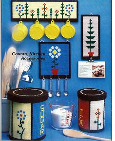 Crafting With Plastic Grid -A 1980 Plastic Canvas Pattern Book. $4.00, via Etsy.