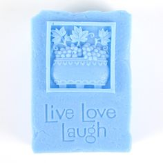 Kudos Live, Laugh, Love Silicone Mold | Bramble Berry® Soap Making Supplies