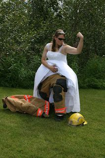 Fire In Ice: Firefighter wedding pictures