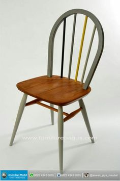 Restored and painted Ercol Windsor chairs by RestoredbyLiat, - Decoration Organization Ercol Chair, Ercol Furniture, Upcycled Furniture, Furniture Making, Diy Furniture, Furniture Design, Chair Bench, Chaise Vintage, Vintage Chairs